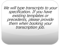 Types of Transcription Specifications